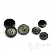 CRICK Grayish Real Buffalo Horn Suit Buttons, Made in Italy