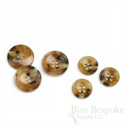 QWAN Butterscotch Tan Horn-Effect Suit Buttons, Made in Italy