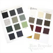 Sample Sheets: Color Chart for Ready Made Tailoring Undercollar (Melton with Canvas)
