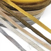 DIAZ Narrow Bullion Braid Trim with Chevron Pattern