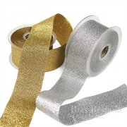 ELVA 50mm Gold and Silver Lurex Ribbon, Made in Italy