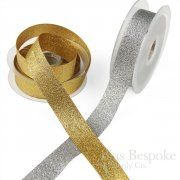 ELVA 25mm Gold and Silver Lurex Ribbon, Made in Italy
