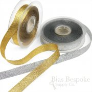 ELVA 15mm Gold and Silver Lurex Ribbon, Made in Italy