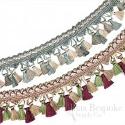 Fancy 3-Color Tassel Trim, Sold by the Yard