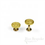 Matte Gold Screw-back Buttons for Epaulettes