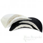 Premium Italian Shoulder Pads for Overcoats, Black and White