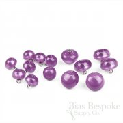 POLARIS Luminous Purple Bubble Buttons in Two Sizes, Made in Italy