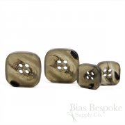 SALGAN Gray Brown Rounded Square Buttons, Made in Italy