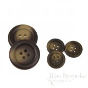 IDRIS Oversized Matte Dark Brown Coat Buttons, Made in Italy