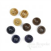 Concave Wooden Shirt Buttons, Made in Italy
