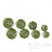 BOGART Classic Light Moss Green Corozo Suit Buttons, Made in Italy