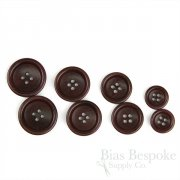 BOGART Classic Cordovan Color Corozo Suit Buttons, Made in Italy