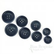 BOGART Classic Dark Blue Corozo Suit Buttons, Made in Italy