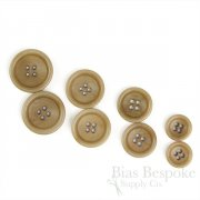 BOGART Classic Tan Corozo Suit Buttons, Made in Italy