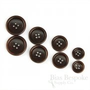 BOGART Classic Dark Brown Corozo Suit Buttons, Made in Italy