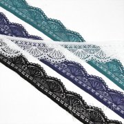 "ARIEL 1 3/16"" Wide Stretch Fan Lace, Made in Italy"