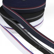 "COLIN Simple Masculine Stripe 1 3/8"" Wide Waistband Elastic"