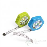 "Hexagonal Magnetic Retractable Tape Measures, 60"", Made in Germany"