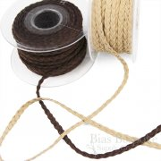 BOONE Braided Leather-Like Cord, Made in France