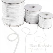 GWINN Twisted Cotton Cord, White Color, Sold by the Yard