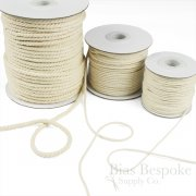 GWINN Twisted Cotton Cord, Undyed Natural Color, 50 Yard Roll
