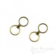 Set of Gold-Colored Metal Rings & Rings with J Hooks