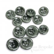 HALENA Luminous Gray-Green Galalite Buttons, Made in Italy