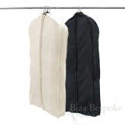 100% Unbleached Cotton Canvas Gusseted Garment Bag, Medium Length for 4-5 Coats or Dresses