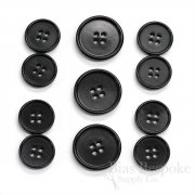 CULLEN Refined Black Corozo Suit Buttons, Made in Italy