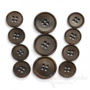 CULLEN Refined Dark Brown Corozo Suit Buttons, Made in Italy