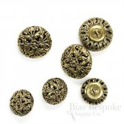 Magnificent Gold Filigree Buttons in Two Sizes, Made in France