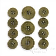 CULLEN Refined Olive Green Corozo Suit Buttons, Made in Italy