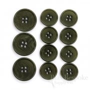 CULLEN Refined Dark Green Corozo Suit Buttons, Made in Italy