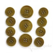 CULLEN Refined Golden Brown Corozo Suit Buttons, Made in Italy