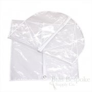 Heavy Gauge Clear Plastic Garment Bag, Coat and Dress Length