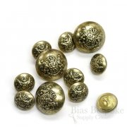 Antique Gold French Lion Buttons in Two Sizes, Made in Paris