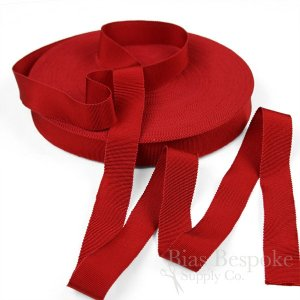 "VERA 1"" Cotton & Viscose Petersham Grosgrain Ribbon, Made in Italy"
