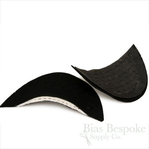 Premium Italian Shoulder Pads for Bespoke Suits, Black and White