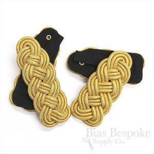 Braided Gold and Silver Cord Epaulettes