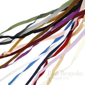LYRA 13 Picot-Edge Plush Lingerie Elastic in 16 Colors, Made in Italy