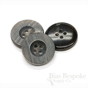 Rare Gray-Brown Genuine Horn Buttons, Made in Germany