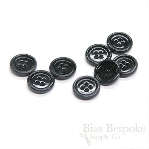 Classic Charcoal Gray Lacquered Corozo Suit Buttons, Made in Italy