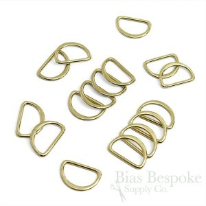 SHI 20mm Metal D-Rings, Seven Colors Available