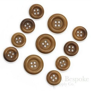 Medium Brown Corozo Suit and Coat Buttons, Made in Germany