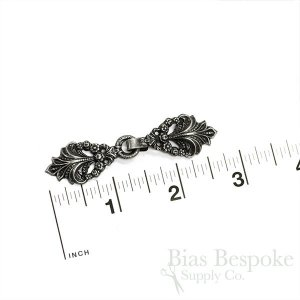 "SIDONIE Charming Antique Finish Clasp, 2 3/4"", Made in France"