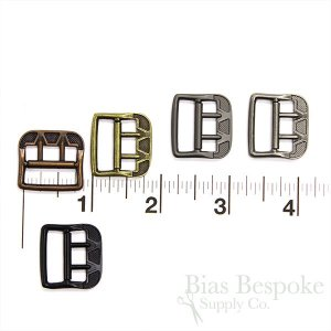 Antique-Style Small Metal Vest Buckles in Five Colors