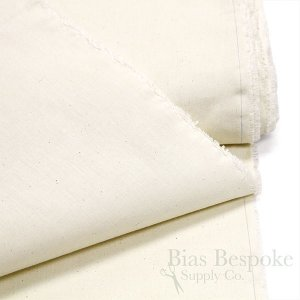 "Natural Cotton Muslin Fabric, 63"" Wide"