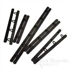 Black Spring Steel Corset Busks, 12 Sizes Available