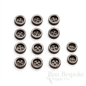 Thick and Pearly Gray-Brown Shirt Buttons in Two Sizes, Made in Italy
