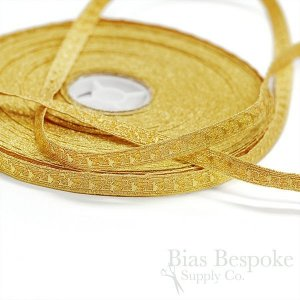ADEL Narrow Bullion Braid Trim with Abstract Pattern